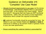 guidance on deliverable 4 complete use case model1