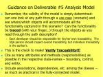 guidance on deliverable 5 analysis model1
