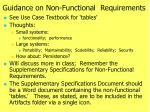 guidance on non functional requirements