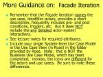 more guidance on facade iteration