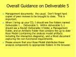 overall guidance on deliverable 5
