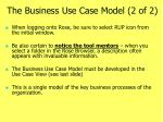 the business use case model 2 of 2