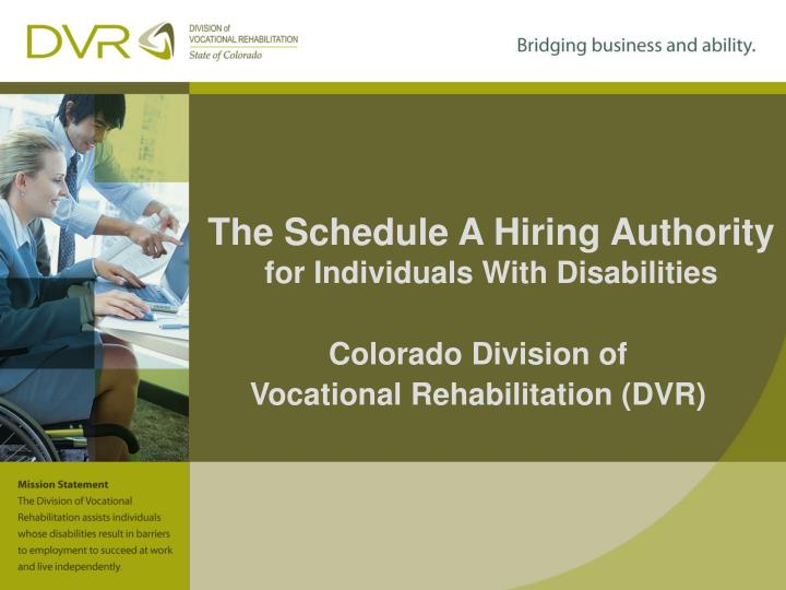 the schedule a hiring authority for individuals with disabilities n.