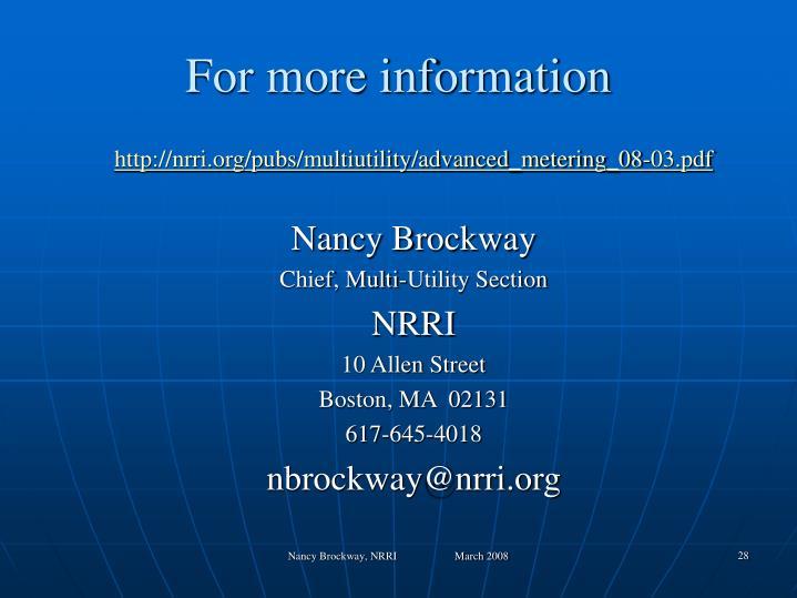 http://nrri.org/pubs/multiutility/advanced_metering_08-03.pdf
