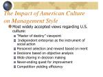 the impact of american culture on management style