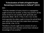 a declaration of faith of english people remaining at amsterdam in holland 1611
