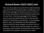 richard baxter 1615 1691 cont