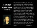 samuel rutherford 1600 1661