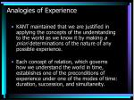 analogies of experience