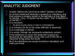 analytic judgment