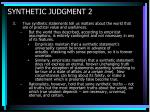 synthetic judgment 2