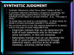 synthetic judgment