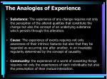 the analogies of experience