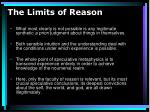 the limits of reason