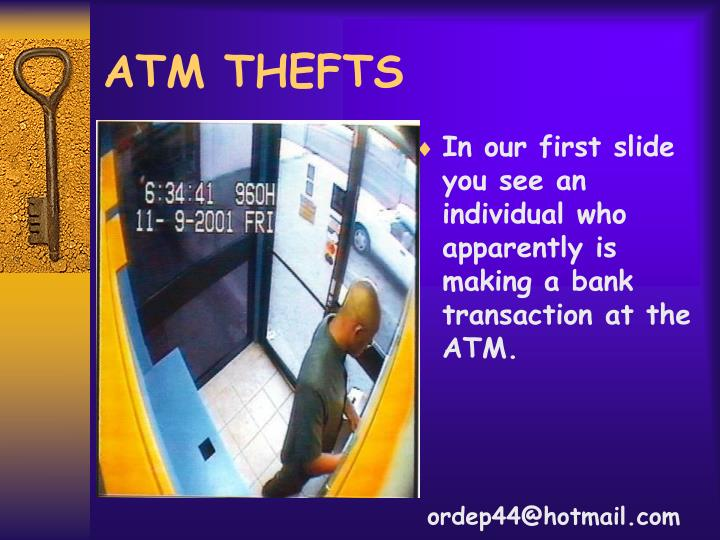 atm thefts n.
