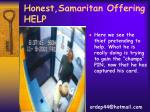 honest samaritan offering help