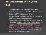 the nobel prize in physics 1903