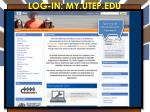 log in my utep edu