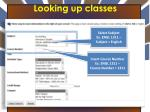looking up classes