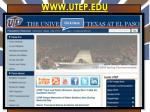 www utep edu