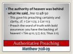 authoritative preaching