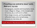 god s word is manifested through preaching1