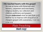 plain preaching