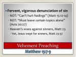 vehement preaching