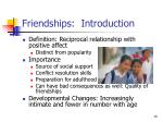 friendships introduction