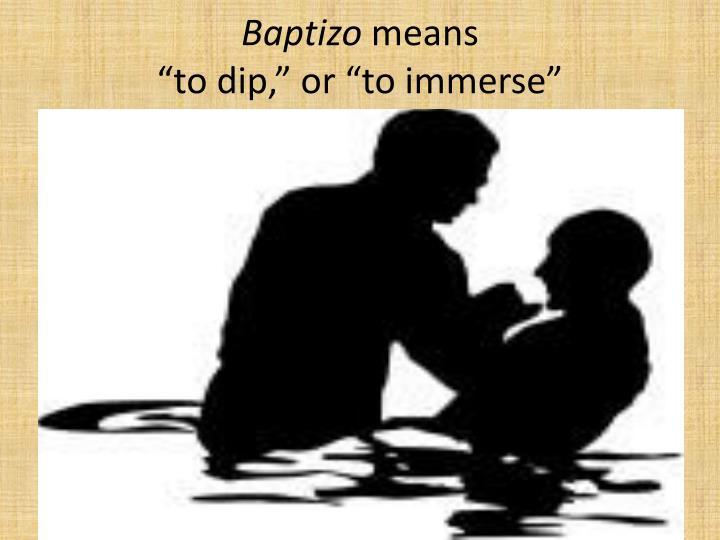 Baptizo