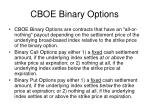 cboe binary options
