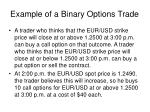 example of a binary options trade
