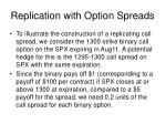 replication with option spreads1