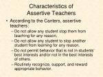characteristics of assertive teachers