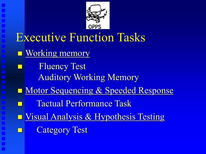 Executive Function Tasks