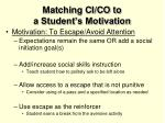 matching ci co to a student s motivation4