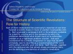 the structure of scientific revolutions role for history