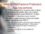 need for post exposure prophylaxis31