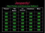 jeopardy non fiction and grammar edition