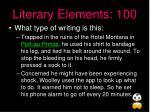 literary elements 100