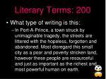 literary terms 200