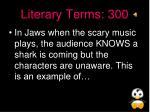 literary terms 300