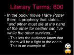 literary terms 600