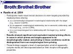 broth brothel brother
