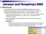 janssen and humphreys 2002
