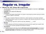 regular vs irregular