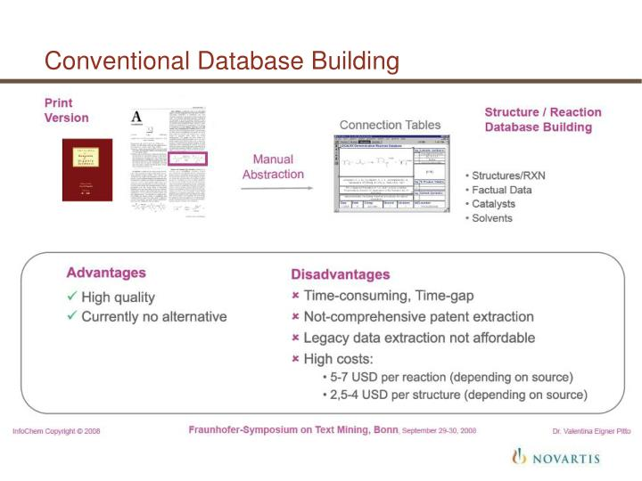 Conventional Database Building