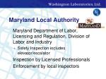 maryland local authority