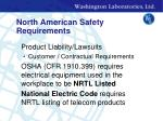 north american safety requirements