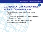 u s regulatory authorities for radio communications